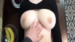 Big Tit amateur hard fucked at home