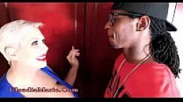 Huge Fake Tit Whore Claudia Marie Cheats On Husband With A Black Man