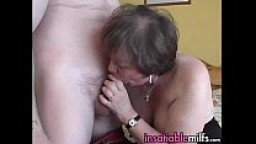 Mature Lady Doing Her Art Of Getting The Load In Her Mouth