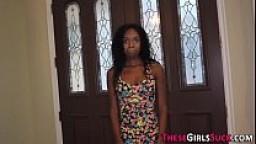 Ebony teen pov sucking