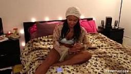 Cute Ebony Jerker