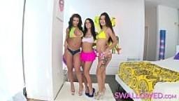 SWALLOWED Adriana, Jynx and Megan share the sloppy blowjob