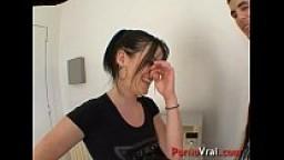 Elle se fait sauter dans sa cuisine !! French amateur