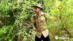 Petite Tribal Babe Bianka Blacka Banging White Cock In The Woods
