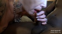 Busty french mature with tattoos hard sodomized n jizzed in an interracial 3way