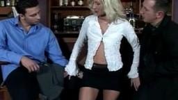 Hungarian slut Jara takes on two studs